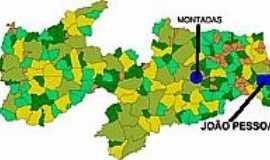 Montadas - Mapa de Localização - Montadas-PB