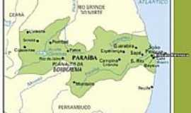 Monteiro - Mapa de localização