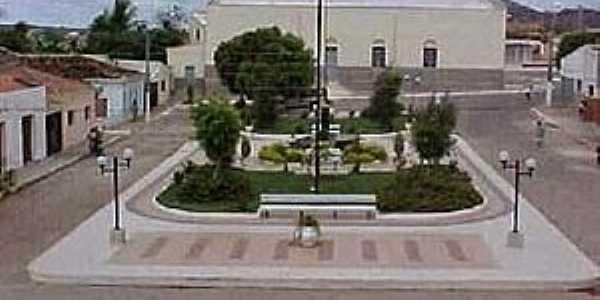 Nazarezinho-PB-Praça e Matriz de São Sebastião-Foto:Paraíba Criativa