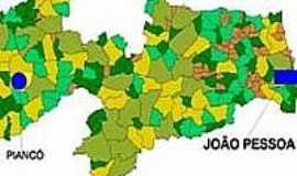Piancó - Mapa