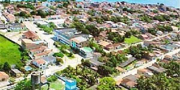 Caravelas-BA-Vista aérea do centro-Foto:Pontos Turísticos Brasil