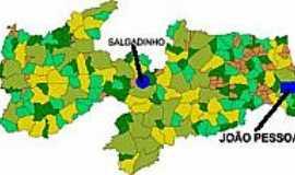 Salgadinho - Mapa de Localização - Salgadinho-PB