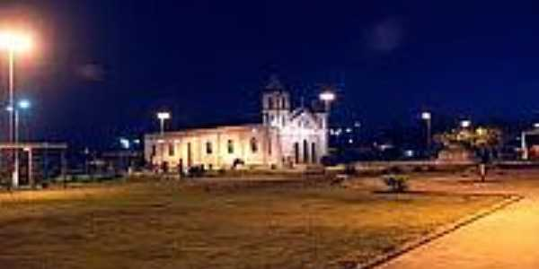 Praça Divina Pastora e Igreja Matriz de Cardeal da Silva-BA-Foto:cardealdasilva.
