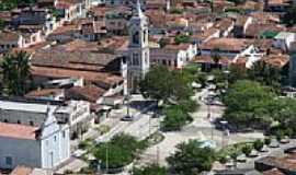 Santa Rita - Vista a�rea da Igreja e Pra�a Get�lio Vargas em Santa Rita-Foto:marcelomoura