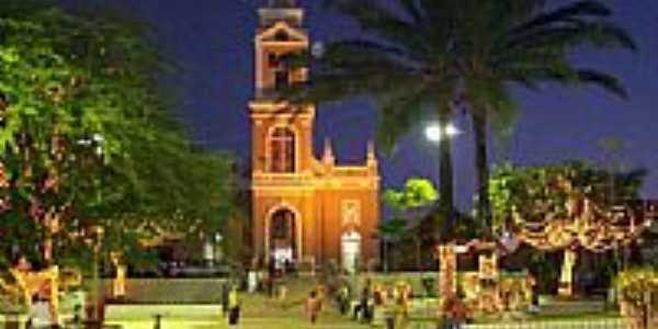 Igreja Matris de Santa Rita,vista noturna-Foto:marcelomoura