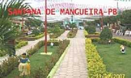 Santana de Mangueira - Praça da Matriz-Foto:zélaurentino