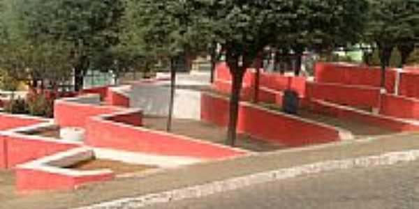 Praça no calçadão em Santana de Mangueira-Foto:fernandosales13