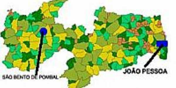 Mapa de Localização - São Bento de Pombal-PB