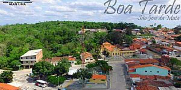 São José da Mata-PB-Vista do centro da cidade-Foto:Alan Lima