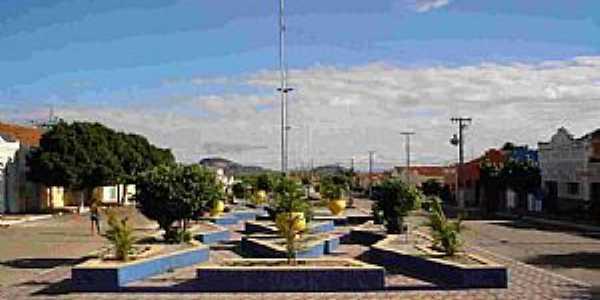 São José do Sabugi-PB-Praça central-Foto:Wânder Rudney