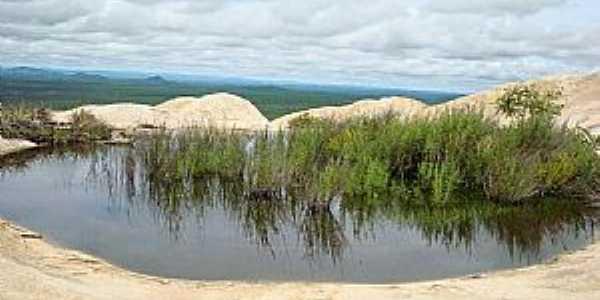 Serra Branca-PB-Lagoa na Serra do Jatob�-Foto:Andr� Mota