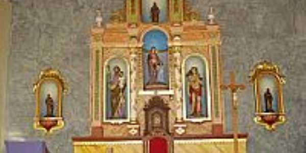 Altar da Capelinha de Santos Reis em Tacima(Campo de Sant´Ana)-PB-Foto:Edneide Sousa