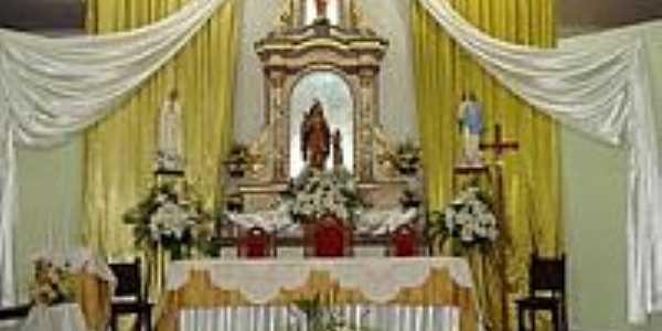 Altar da Igreja Matriz de Sant´Ana em Tacima(Campo de Sant´Ana)-PB-Foto:Edneide Sousa