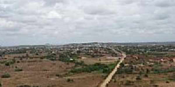 Vista aérea da estrada e da cidade de Castro Alves-BA-Foto:George Bitencourt