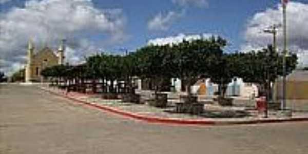 Avenida e a Igreja de Zabelê-PB-Foto:expressopb.