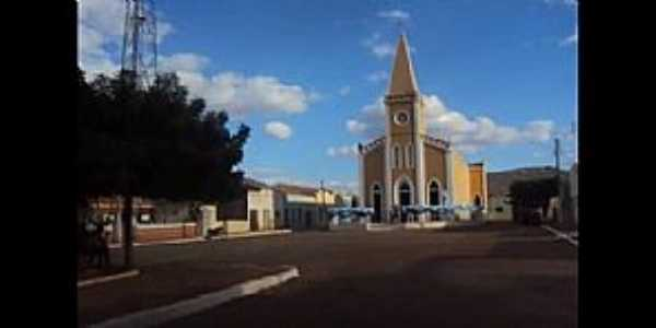 Bernardo Vieira-PE-Praça e Igreja Matriz-Foto:Creuza Melo