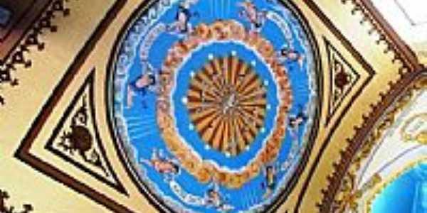 Pintura no teto da Igreja do Convento de Bom Conselho-PE-Foto:james.patrik