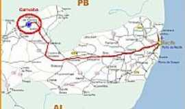 Carnaíba - Mapa de Localização - Carnaíba-PE