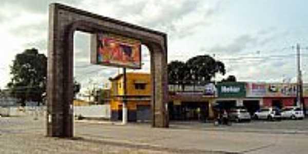 Goiana-PE-P�rtico de entrada da cidade-Foto:Orlando de Almeida Calado