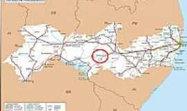 Ibimirim - Mapa de Localiza��o - Ibimirim-PE