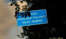 Coaraci - Placa de entrada da cidade, Por REGINA MARIA CAMPOS PIMENTEL