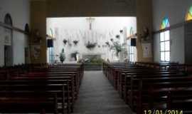 Coaraci - Interior da Igreja de Na. Sra. de Lourdes-Coaraci, Por REGINA MARIA CAMPOS PIMENTEL