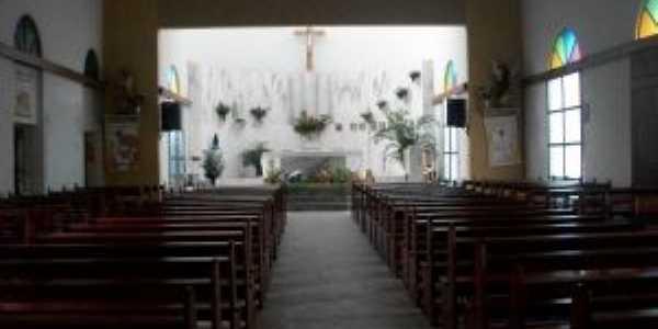 Interior da Igreja de Na. Sra. de Lourdes-Coaraci, Por REGINA MARIA CAMPOS PIMENTEL