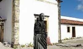 Itamaracá - Escultura em madeira no interior do Forte de Itamaracá-PE-Foto:Emerson R. Zamprogno
