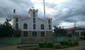 Cocos - Praça e Igreja Matriz de Cocos-BA-Foto:Rômulo Henok
