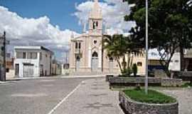 Jupi - Praça e Igreja Matriz de Jupi-PE-Foto:Elio Rocha