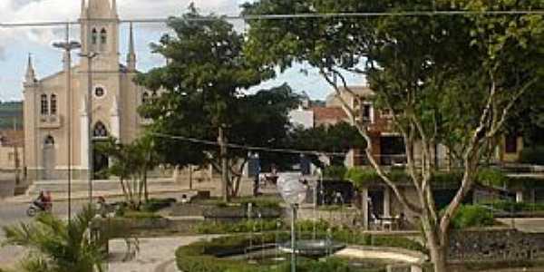 Jupi-PE-Praça e Matriz de N.Sra.do Rosário-Foto:Roberto Almeida