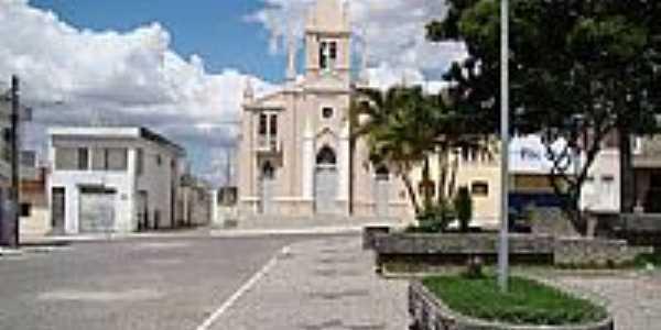 Pra�a e Igreja Matriz de Jupi-PE-Foto:Elio Rocha
