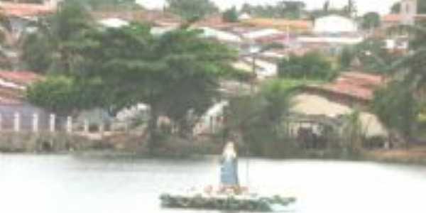 SANTA ENFEITANDO A LAGOA, Por ALCIDES ALVES CARNEIRO
