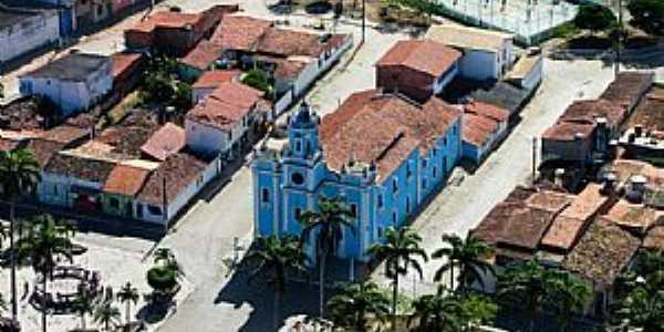Foto aérea da Praça da Bandeira.