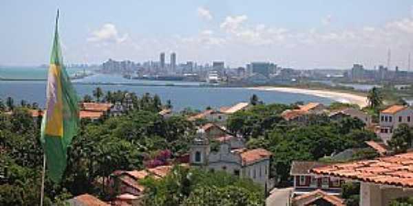 Olinda-PE-Vista parcial e ao fundo Recife-Foto:Roberto Inojosa