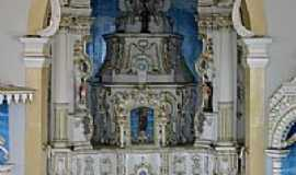 Condeúba - Altar em estilo Barroco da Matriz de Condeúba-Foto:João Gagu