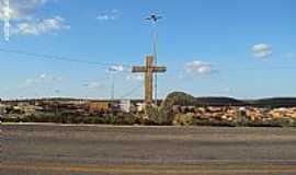 Santa Cruz - Santa Cruz-PE-Monumento na entrada da cidade-Foto:Sergio Falcetti