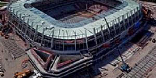 Visão geral, semi pronta, da Arena da Copa em São Lourenço da Mata-PE