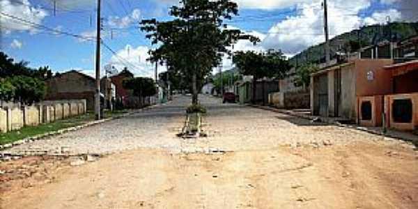 Serra do Vento-PE-Rua de entrada da Vila-Foto:WLuiz