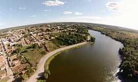 Água Branca - Água Branca-PI-Vista aérea do açude e a cidade-Foto:www.mpiaui.com