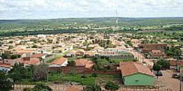 Alagoinha do Piauí-PI-Vista aérea da cidade-Foto:facebook.com/AlagoinhaDoPiaui