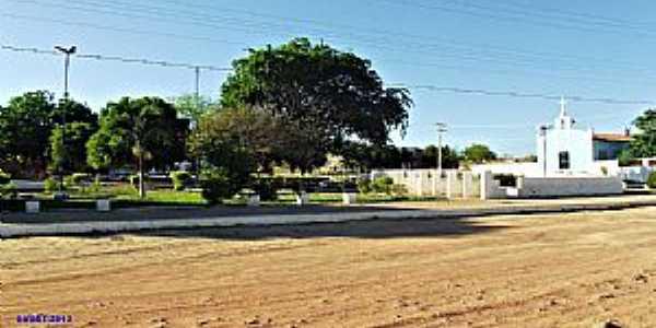 Alvorada do Gurguéia-PI-Praça da Matriz de N.Sra.Aparecida-Foto:WLuiz