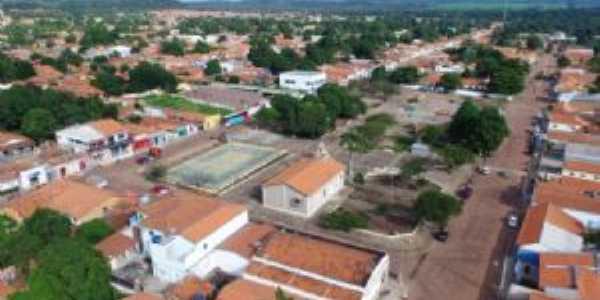 Vista aérea diurna da cidade de Baixa Grande do Ribeiro-PI, Por Donizete Brandão de Alencar