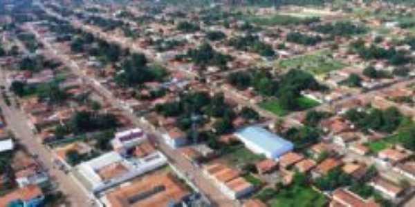 Vista aérea da cidade de Baixa Grande do Ribeiro-Piauí, Por Donizete Brandão de Alencar