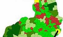 Betânia do Piauí - Mapa de Localização - Betânia do Piauí-PI