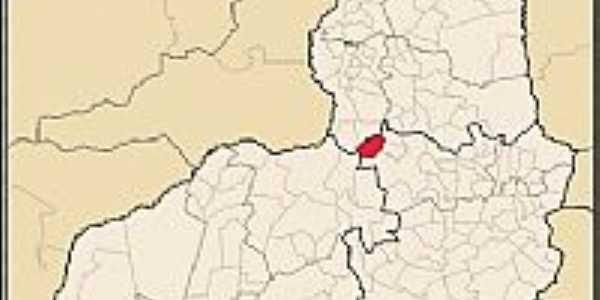 Cajazeiras do Piaui-PI-Mapa de Localização