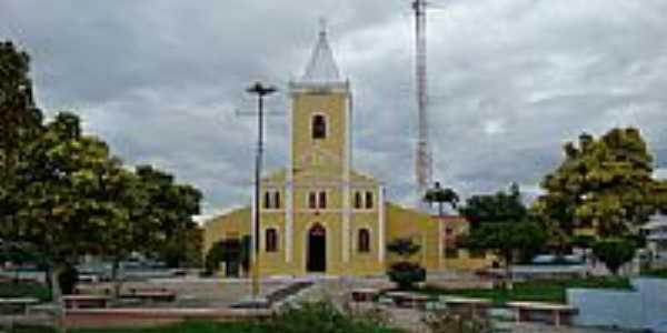 Praça e Igreja em Cocal-Foto:Edilson Morais Brito…
