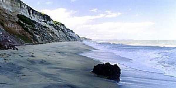 Cumuruxatiba-BA-Vista da praia-Foto:Alberto Alves