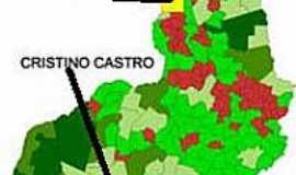 Cristino Castro - Mapa de Localização - Cristino Castro-PI