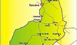 Esperantina - Mapa